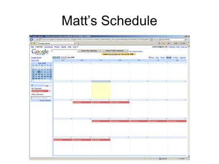 Matt's Schedule. Headway Variation Estimated Load vs. Passenger Movement.