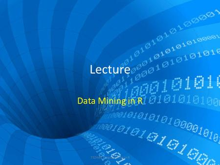 Lecture Data Mining in R 732A44 Programming in R.