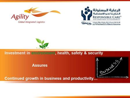 Investment in environment, health, safety & security