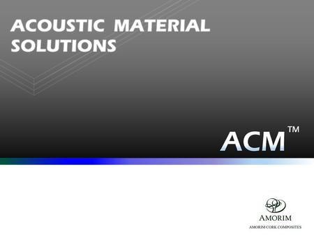 Marine, Railway and ground Transportation ACOUSTIC MATERIALS for.