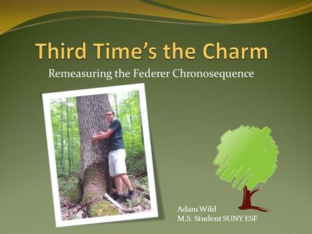 Remeasuring the Federer Chronosequence Adam Wild M.S. Student SUNY ESF.