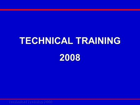 TECHNICAL TRAINING 2008. Mini Chiller Panel Controller V2.0.