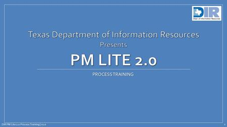 Texas Department of Information Resources Presents