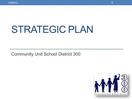 STRATEGIC PLAN Community Unit School District 300 7/29/2013 1.