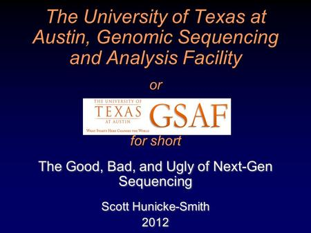 The Good, Bad, and Ugly of Next-Gen Sequencing