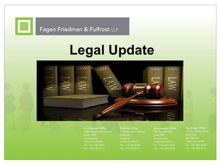 Legal Update. 2 Overview Federal & State Law – Parental Revocation of Consent, CAHSEE, CDE Oversight Federal Court Cases – Private School Reimbursement,