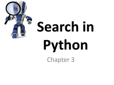 Search in Python Chapter 3.
