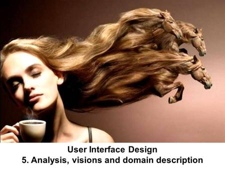 User Interface Design 5. Analysis, visions and domain description.