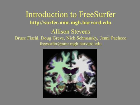 Introduction to FreeSurfer