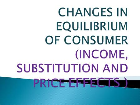Income effect is the effect on the quantity demanded of the commodity due to the change in the income of the consumer while the prices of the other commodities.