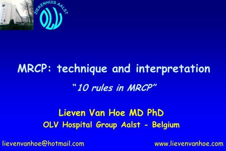 "MRCP: technique and interpretation ""10 rules in MRCP"""