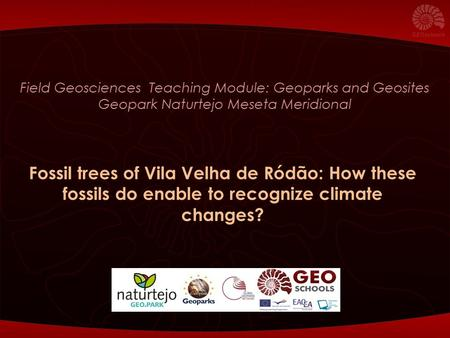 Field Geosciences Teaching Module: Geoparks and Geosites Geopark Naturtejo Meseta Meridional Fossil trees of Vila Velha de Ródão: How these fossils do.