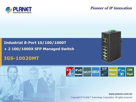 Industrial 8-Port 10/100/1000T /1000X SFP Managed Switch