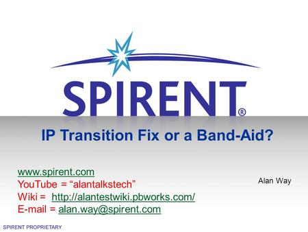 IP Transition Fix or a Band-Aid?