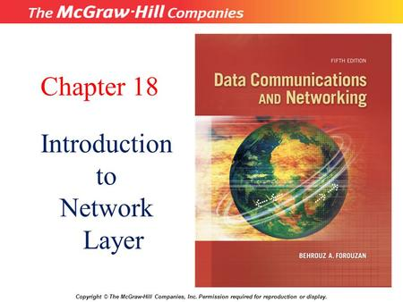 Chapter 18 Introduction to Network Layer 18.# 1