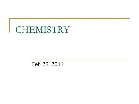 CHEMISTRY Feb 22, 2011. Warm Up Find the molar mass of these substances  Fe 3 N 2  Mg(OH) 2.
