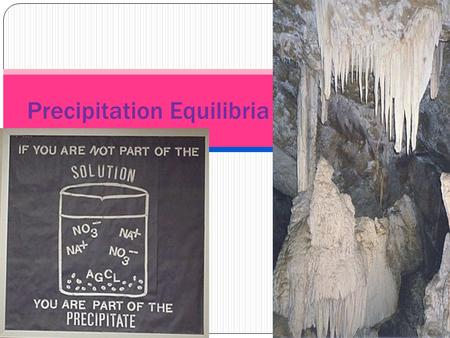 Precipitation Equilibria. Solubility Product Ionic compounds that we have learned are insoluble in water actually do dissolve a tiny amount. We can quantify.