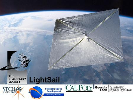 LightSail. Lightsail Objectives Demonstrate viability of Solar Sails –Ability to alter orbit energy in positive direction –Ability to manage orbital energy.