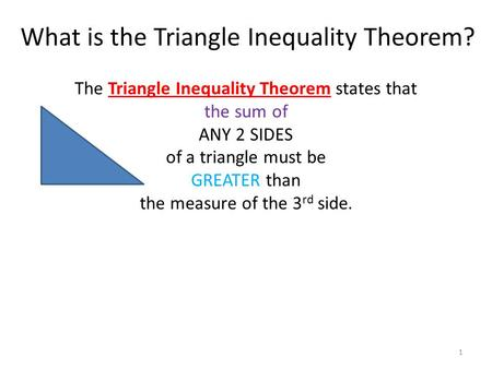 What is the Triangle Inequality Theorem?