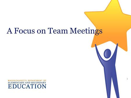 A Focus on Team Meetings 1. 2 Think about the individual. Remember that each student has individual needs, based upon the impact of his/her disability.