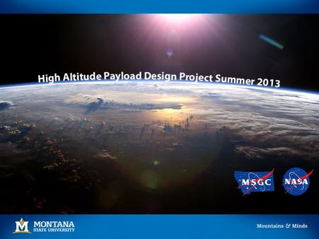 Mission Statement and Objectives Design Requirements Functional Log radiation and corresponding altitude for duration of flight (up to 90,000 feet.