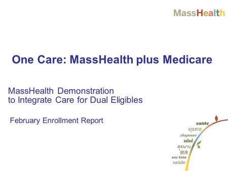 One Care Medicare + MassHealth Important Updates - ppt ...