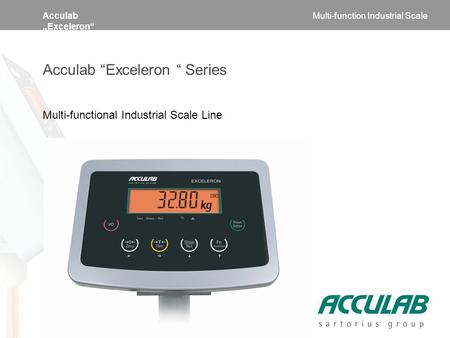 "Acculab ""Exceleron"" Acculab ""Exceleron "" Series Multi-functional Industrial Scale Line Multi-function Industrial Scale."