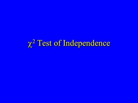  2 Test of Independence. Hypothesis Tests Categorical Data.