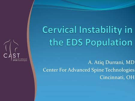 Cervical Instability in the EDS Population