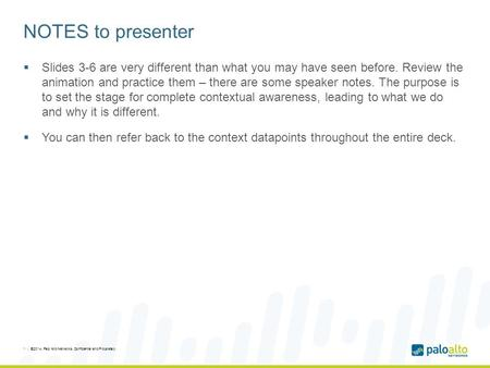 NOTES to presenter  Slides 3-6 are very different than what you may have seen before. Review the animation and practice them – there are some speaker.