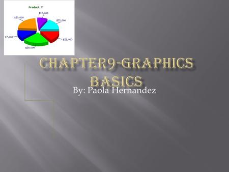 By: Paola Hernandez.  Chapter 9 Overview Lesson 9–1 Graphics and Their Uses Lesson 9–2 Exploring Graphics Programs Lesson 9–3 Working With Graphics Chapter.