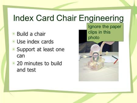 Index Card Chair Engineering