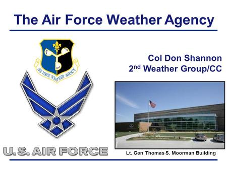 The Air Force Weather Agency