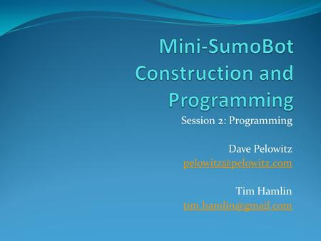 Mini-SumoBot Construction and Programming