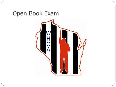 Open Book Exam.