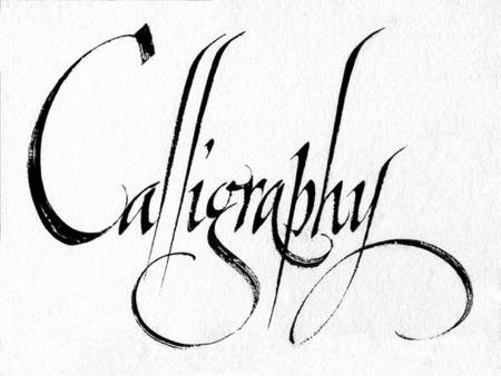 Calligraphic Writing The meaning of calligraphy is beautiful handwriting. It means a special writing and it has its own aesthetic rules. It is different.