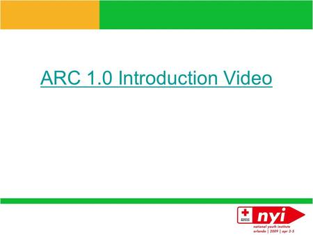 ARC 1.0 Introduction Video American Red Cross 1.0 Learn and Act.
