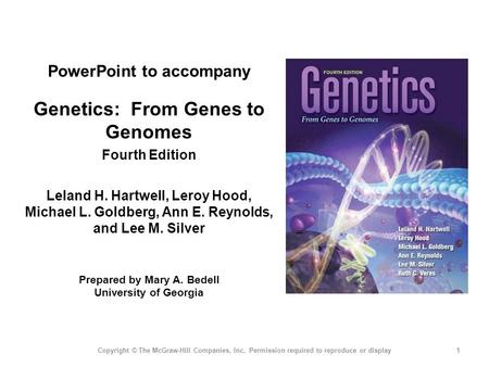 Genetics: From <strong>Genes</strong> to Genomes