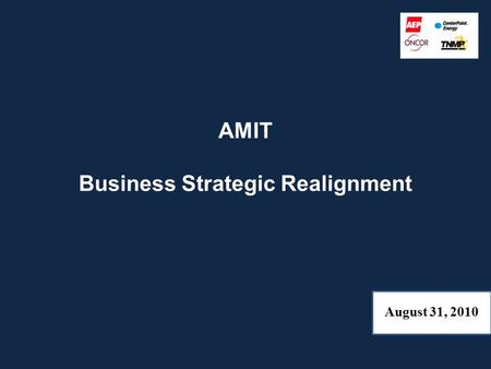 AMIT Business Strategic Realignment August 31, 2010.