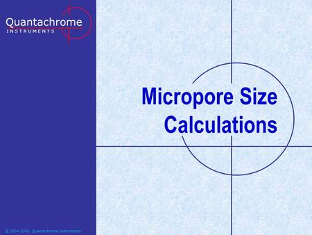 Micropore Size Calculations