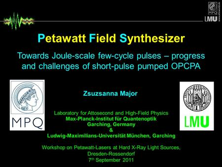 Petawatt Field Synthesizer