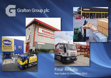 Final Results Year Ended 31 December 2012. 2 Financial Highlights Revenue up 6% to €2.2 billion and by 0.6% in constant currency Underlying operating.