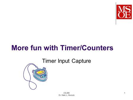 More fun with Timer/Counters