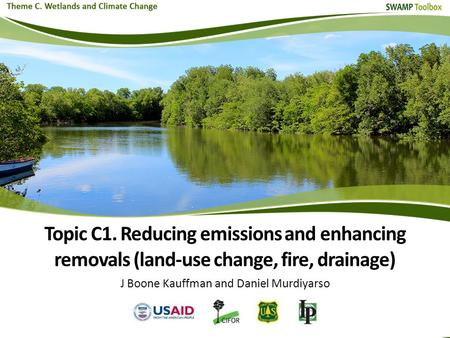 Topic C1. Reducing emissions and enhancing removals (land-use change, fire, drainage) J Boone Kauffman and Daniel Murdiyarso.