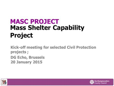 Mass Shelter Capability Project