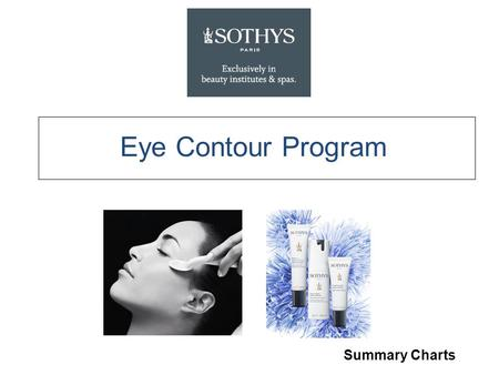 Eye Contour Program Summary Charts. Fragrance-free, Ophthalmologically tested High-protection eye complex is the key active in the Eye Program. Developed.