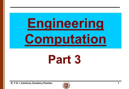 Engineering Computation