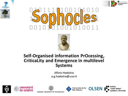 Self-Organised information PrOcessing, CriticaLity and Emergence in multilevel Systems Alfons Hoekstra