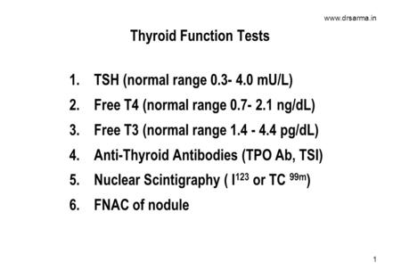 T4 test normal range