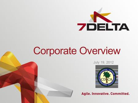 Corporate Overview July 19, 2012. Introduction Established in 2005, 7Delta, Inc., a verified Service Disabled Veteran Owned Small Business, is a leading.